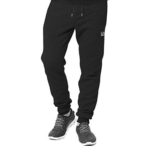 urban air | Athleisure One | komfortable Jogginghose, Sporthose, Sweatpants | Herren | für Fitness und Freizeit | grau, schwarz | S, M, L (L, schwarz)