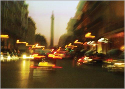 Preisvergleich Produktbild Nachts auf den Champs Elysée - verschicken Sie diesen Traum als Grußkarte • auch zum direkt Versenden mit ihrem persönlichen Text als Einleger.