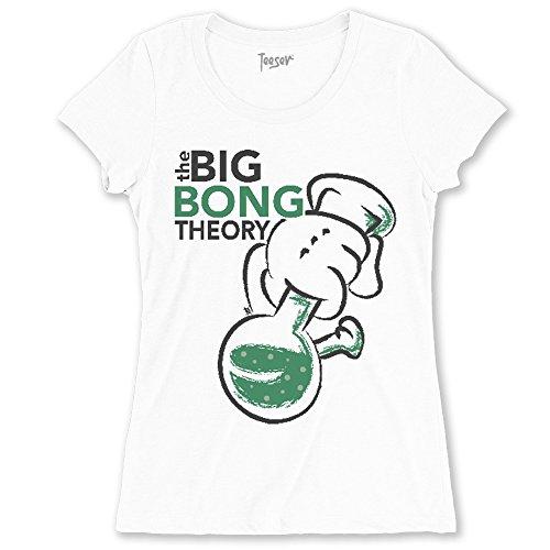 Teeser, T-shirt The Big Bang Theory - Maglietta arte con stampa HD alta qualità - Cotone, girocollo, Colore: Bianco, Taglia: X-Large