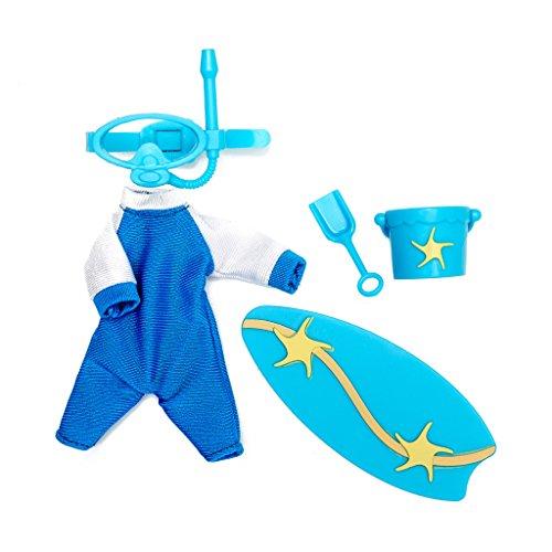 Lottie Kleidung für Puppe LT039 Body Boarder Surfing Outfit Set - Puppen Zubehör Kleidung Puppenhaus Spieleset - Zubehör Kleidung Puppenhaus Spieleset - ab 3 Jahren