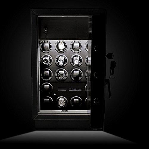 Safewinder® 18 DELUXE BLACK Uhrenbeweger & Safe - 2