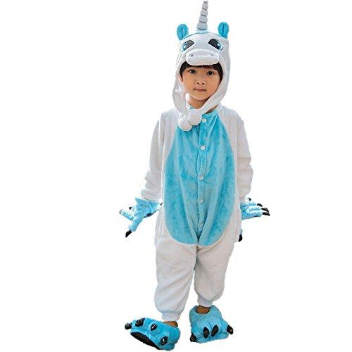 Strampelanzug Gr. Large, Blau, Einhorn (Erwachsenen Strampelanzug Kostüm)
