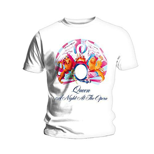 Bravado Queen-A Night At The Opera Camiseta, Blanco, XL para...