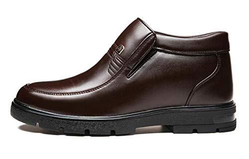 Winter Warme Herrenschuhe Dicke Herrenschuhe Mittleren Alters High-Top-Schuhe Papa,Brown1-38=240mm