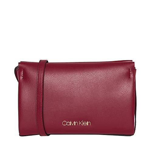 Abend-tasche Frame (Calvin Klein Handtaschen Damen, Farbe Braun, Marke, Modell Handtaschen Damen Block Saddle Braun, Red Rock (Rot), )