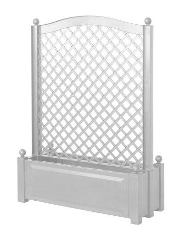 KHW 37101 Pflanzkasten mit Zentral-Spalier 100 cm, weiß