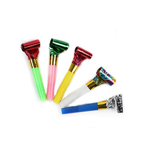 Neuheit Kunststoff Pfeife Party Tröten Luftrüssel Mehrfarbiger Partyspaß Scherzartikel Party Tröte Kinder-Geburtstags-Party Zubehör Spielzeug Geschenke ()