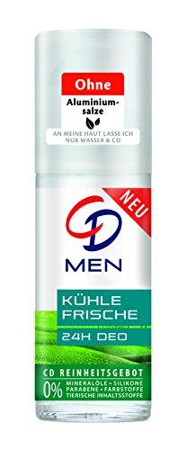 CD Deo Men Roll-On Kühle Frische / Deoroller für Männer ohne Aluminium für 24 Std Schutz im Vorratspack / 6er Pack (6 x 50 ml)