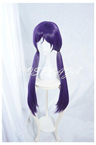 Kostüm Tojo Cosplay Nozomi (COSPLAZA Perücken Cosplay Wig lang Zöpfen Volett Anime Halloween)
