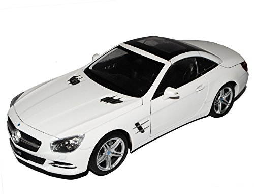 Welly Mercedes-Benz SL-Klasse R231 Cabrio Coupe Geschlossen Weiss Ab 2012 1/18 Modell Auto - 231 Coupe