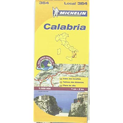 Carte Calabre Michelin