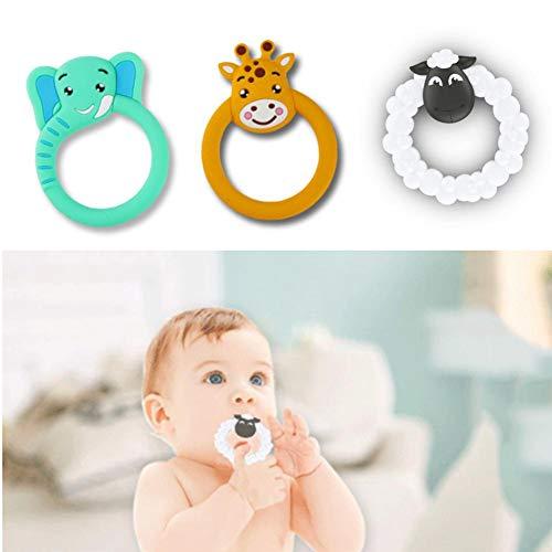 Beißring Beißen Spielzeug für Kinder Baby, Antibakteriell Weich Silikon Beißring Kauen Spielzeug Mütterlichen und Kind Liefert für Baby, Kleinkind zu üben Greifen Fähigkeit, Sensorische Fähigkeit