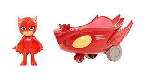Giochi Preziosi - Super Pigiamini PJ Masks Veicolo Gufaliante con Personaggio Gufetta, PJM03300
