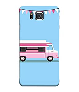 Samsung Galaxy Alpha, Samsung Galaxy Alpha S801, Samsung Galaxy Alpha G850F G850T G850M G850Fq G850Y G850A G850W G8508S, Samsung Galaxy Alfa Back Cover Pink Ice Cream Van Design From FUSON