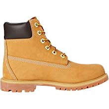 Timberland Women's 6 Inch Premium Waterproof Lace-up Boots, Yellow (Wheat Nubuck),6.5 UK (39.5 EU)