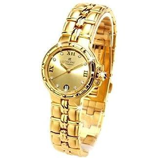 Oskar Emil Casablanca 304L – Reloj Diamante Oro Mujeres, Con Esfera Dorado