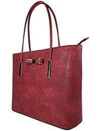 Elegante Damen Handtasche Henkeltasche rot 9128