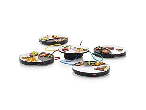 Princess Dinner4All Tischgrill für bis zu 4 Personen - abnehmbare Porzellanplatten, 104000