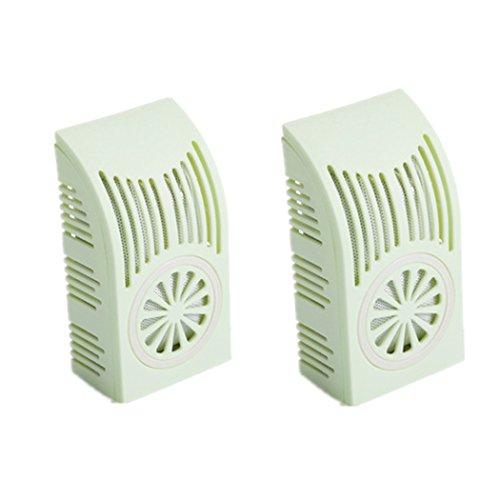 Medigy Natürliche Bambus-Kohle-Filter für Kühlschrank Geruchs Dämpfer für Kühlschrank Auto Schrankküche mit recycelbaren Halter 2 Packs in grün (Kohle Bag Filter)