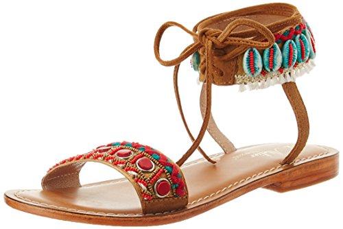 L'ATELIER TROPEZIEN Sandale Mode Coquillage, Spartiates Femme