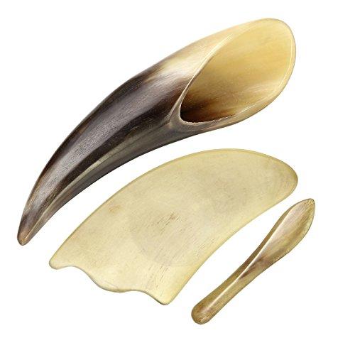 Preisvergleich Produktbild JOVIVI Gua Sha 4st Set Scraping Massage Werkzeug Horn Multi Form Gua Sha Schaber Guasha Board Traditionell Tool