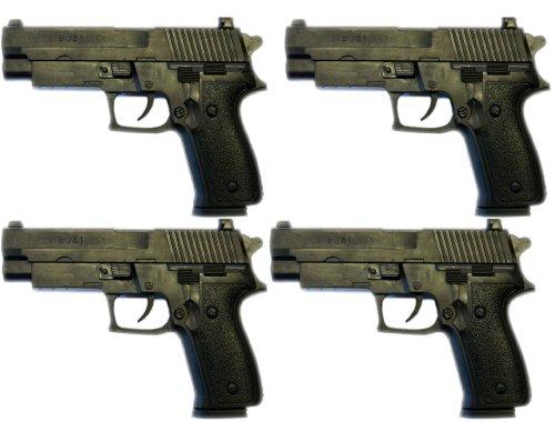 Grosse Sof-Aair Spielzeug-Pistolen 4 Stück Set 503501 Air-Soft Kugeln Munition Zubehör