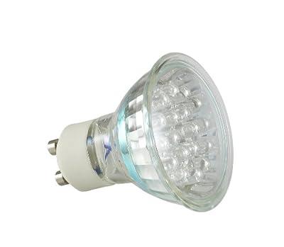 LED Lampe Leuchte Strahler GU10 1,1W 21 LEDs 230V Warmweiß 75 Lumen von Goliath - Lampenhans.de