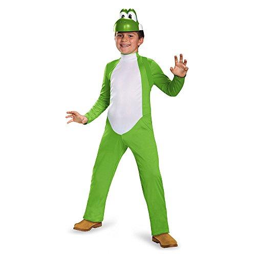 Kostüm Super Mario Child - Super Mario Bros Yoshi Deluxe Child Costume Small 4-6