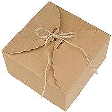 Xuxuou 5 Piezas Caja de Cartón Pastel de 14.2 X 14.2 X 8CM (5.59