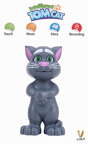 Intelligent Talking Tom Cat By Cora With Touch Recording Story Rhymes & Songs,Intelligent Touching Tom Cat with wonderful voice.