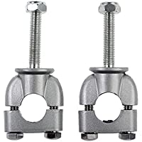 ESYNIC Abrazadera de Moto Abrazadera Vertical del Manillar Universal Barra Kits de Montaje Metal Durable Uso para 22 mm Manillar -Plata
