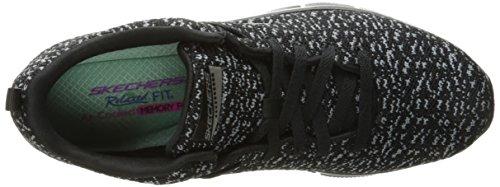 Skechers Empire Connections, Chaussures Multisport Outdoor Femme Noir