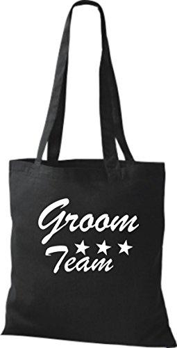 Shirtstown Stoffbeutel JGA Groom Team viele Farben schwarz