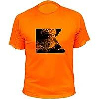 AtooDog Camiseta de Caza, Verraco, Jabalí, Zoom, Regalos para Cazadores (300, Naranja, XL)