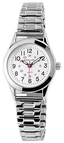 Excellanc Damen-Uhr Zugband Silberfarbend Metall Analog 1700025-001