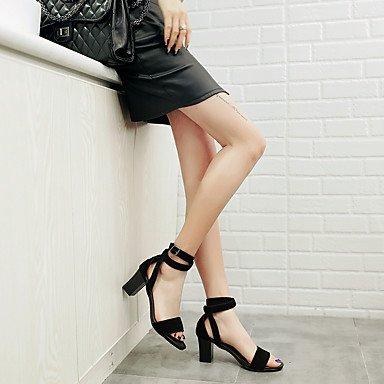 LvYuan Damen-Sandalen-Büro Kleid Party & Festivität-Leder-Blockabsatz-Andere D'Orsay und Zweiteiler-Schwarz Black