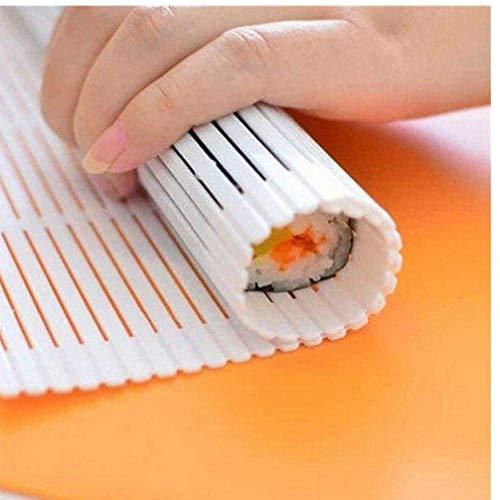Ouken plástico Sushi Mat arroz pegajoso Rodillo Maker Accesorios Herramientas de Bricolaje Gadgets Fabricante Estera de la Cocina Que Cocina el alimento Gadget