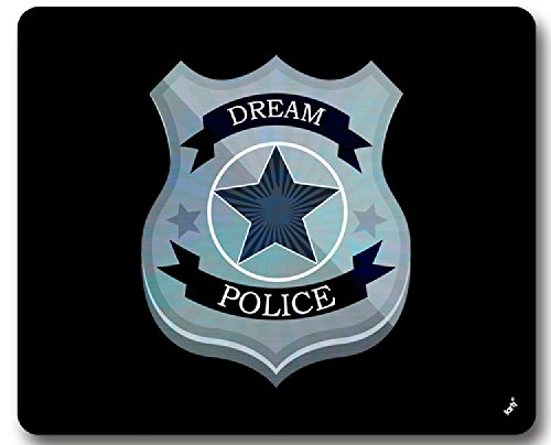 1art1 93779 Abzeichen - Dream Police Polizei-Marke Mauspad 23 x 19 cm