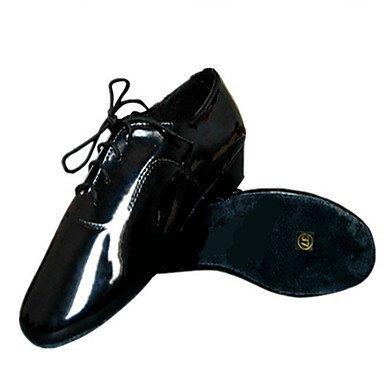 Scarpe da ballo-Non personalizzabile-Da uomo-Balli latino-americani-Quadrato-Finta pelle-Nero Black