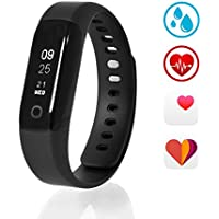 Sharon Activity Tracker per Google Fit e Apple Health | Orologio Fitness con Cardiofrequenzimetro da polso, Contapassi, Pedometro, Indicatore di calorie bruciate, distanza percorsa, Monitor del Sonno e notifiche di chiamate e SMS in entrata e funzione sveglia | Display Touch OLED IP68 per Nuoto e Sport Acquatici | Con Applicazione Smart Life gratuita in Italiano per Apple e Android. Integrato con Apple Health e Google Fit - Batteria interna ricaricabile via USB con 7 giorni di autonomia continua