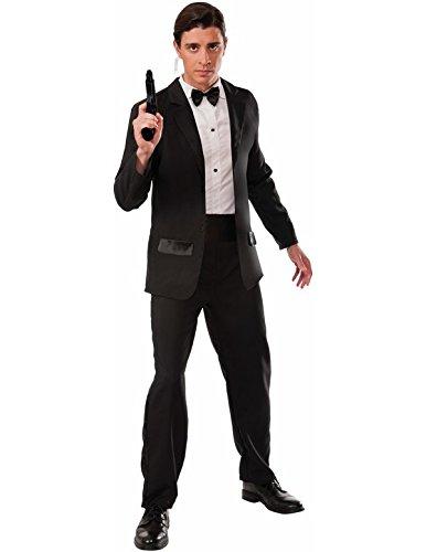 Herren-Kostüm Secret Agent Smoking James Bond 007 Geheimagent, Größe:L/XL
