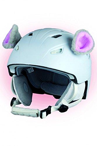 Crazy Ears Helm-Accessoires Biene Teddy Maus Katze. Ski-Ohren geeignet für Skihelm Motorradhelm Fahrradhelm und vieles mehr. Helm Dekoration für Kinder und Erwachsene, CrazyEars:Mäuse Ohren