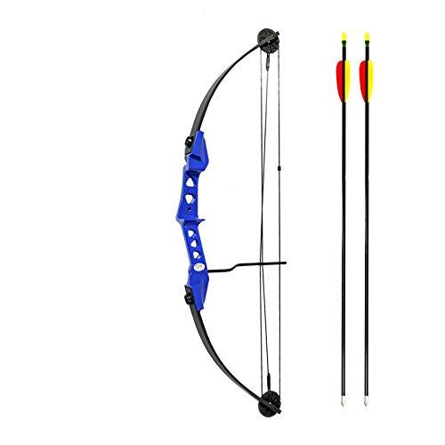 Man Kung Compoundbogen Hawk® Blau 84 cm / 19-29 lbs RH für Jugend und Kinder