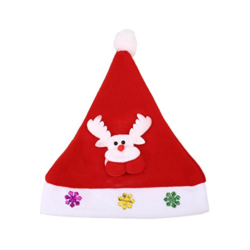 Luminous Christmas Supplies LED Light Hat Santa Elk Snowman Xmas Cap Party Glowing Gift Toy (Before Party Supplies Christmas Nightmare)