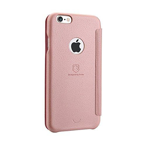 Wkae Lenuo PU + PC Litchi Textur Horizontale Flip Leder Tasche mit Card Slots für iPhone 6 & 6s ( Color : Black ) Rose gold