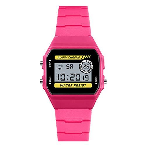 HONHX Luxury Child Analog Digital Sport LED Wasserdichte Leuchtende Armbanduhr Jungen Uhren Mädchen Uhren Kinder Armbanduhr Digital Analog Wasserdicht Sports Uhren für Jungen und Mädchen Digital (Digitale Kind Uhr)
