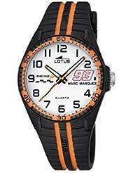 Lotus Marc Marquez Collection Kids 2016enfants de montre à quartz avec cadran blanc Affichage analogique et bracelet en caoutchouc noir 18261/3