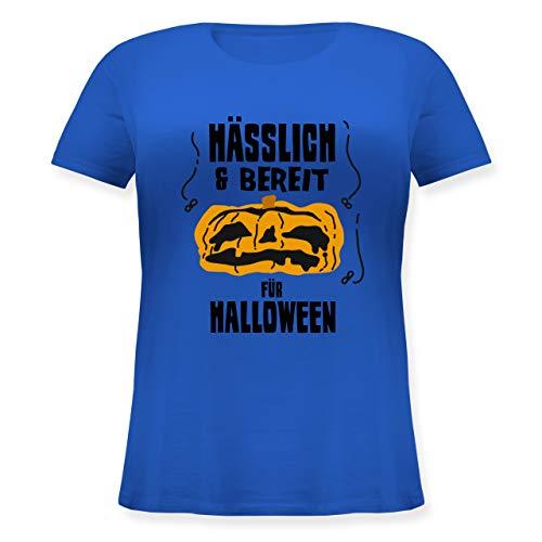 Halloween - Hässlich und bereit für Halloween - XL (50/52) - Blau - JHK601 - Lockeres Damen-Shirt in großen Größen mit Rundhalsausschnitt (Kürbis Kostüm Pi)