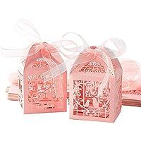 Chengstore 50PCS Cajas del Favor del Banquete de Boda Cajas Dulces del Caramelo Pequeña Caja de Regalo para la Boda Decoración de la Fiesta de cumpleaños