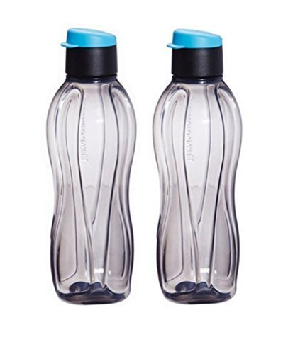 tupperware-eco-black-flip-top-water-bottle-500-ml-17-oz-set-of-2-bottles-by-tupperware